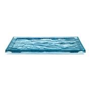 Plateau Dune Large / 55 x 38 cm - PMMA - Kartell bleu pâle en matière plastique