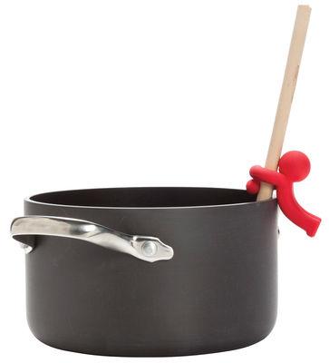 Cucina - Utensili da cucina - Poggiacucchiaio Douglas - / 2-in-1 di Pa Design - Rosso - Materiale plastico
