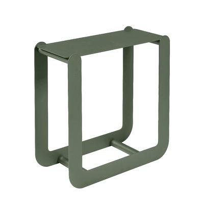 Mobilier - Compléments d'ameublement - Porte-bûches Nevado / Tabouret - L 60 x H 60 cm - Fermob - Cactus - Acier