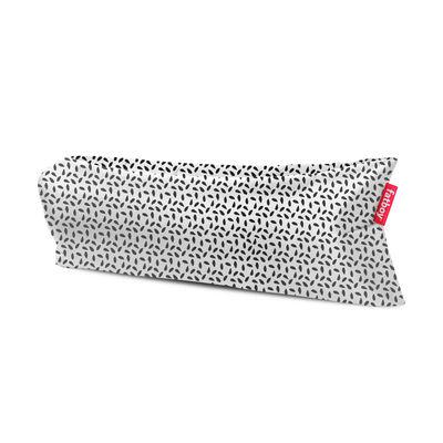 Outdoor - Chaises longues et hamacs - Pouf gonflable Lamzac 3.0 / L 200 cm - Polyester - Fatboy - Capri / Noir & blanc - Polyester ripstop
