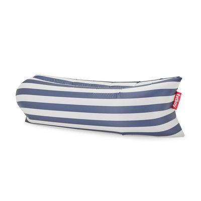 Jardin - Bains de soleil, chaises longues et hamacs - Pouf gonflable Lamzac 3.0 / L 200 cm - Polyester - Fatboy - Rayé bleu Océan - Polyester ripstop
