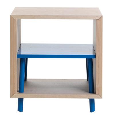Rangement Obi / Petit modèle - H 45 cm - Valsecchi 1918 bleu,bois naturel en bois