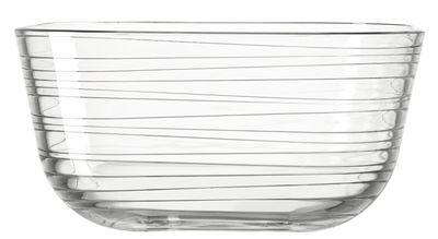 Saladier Struttura Gusto / Ø 26 x H 13 cm - Leonardo transparent en verre
