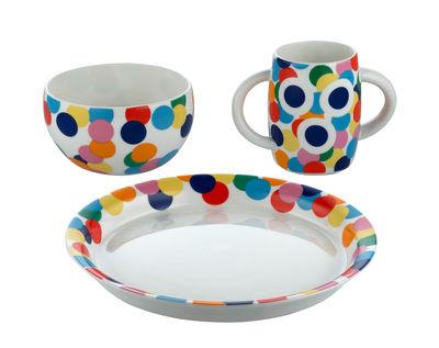 Déco - Pour les enfants - Set vaisselle enfant Proust - Alessi - Proust / Multicolore - Porcelaine
