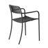 Patio Lames Stackable armchair - / Slats - Stainless steel by Tolix