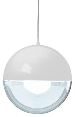 Luminaire - Suspensions - Suspension Orion / Ø 32 cm - Koziol - Blanc  / Transparent - Polystyrène