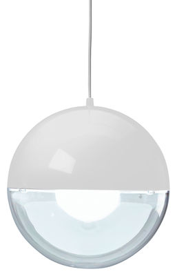 Luminaire - Suspensions - Suspension Orion / Ø 32 cm - Koziol - Blanc  / Transparent - Polystyrène
