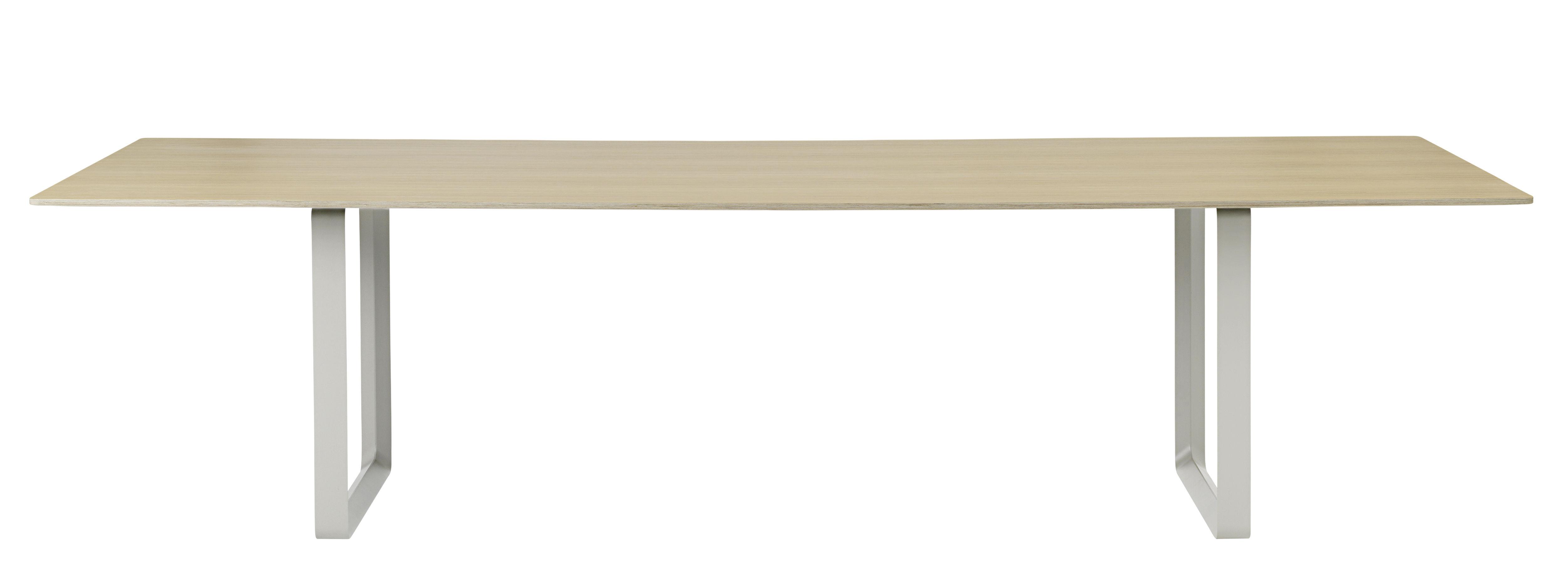 Mobilier - Tables - Table 70-70 XXL / 295 x 108 cm - Muuto - Chêne / Pieds gris - Aluminium, Chêne, Contreplaqué