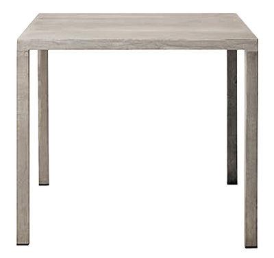 Mobilier - Tables - Table carrée Iltavolo / Ciment - 80 x 80 cm - Opinion Ciatti - Ciment gris - Ciment, Métal