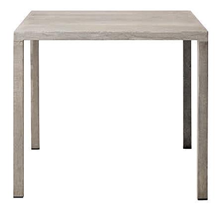 Mobilier - Tables - Table Iltavolo / Ciment - 80 x 80 cm - Opinion Ciatti - Ciment gris - Ciment, Métal