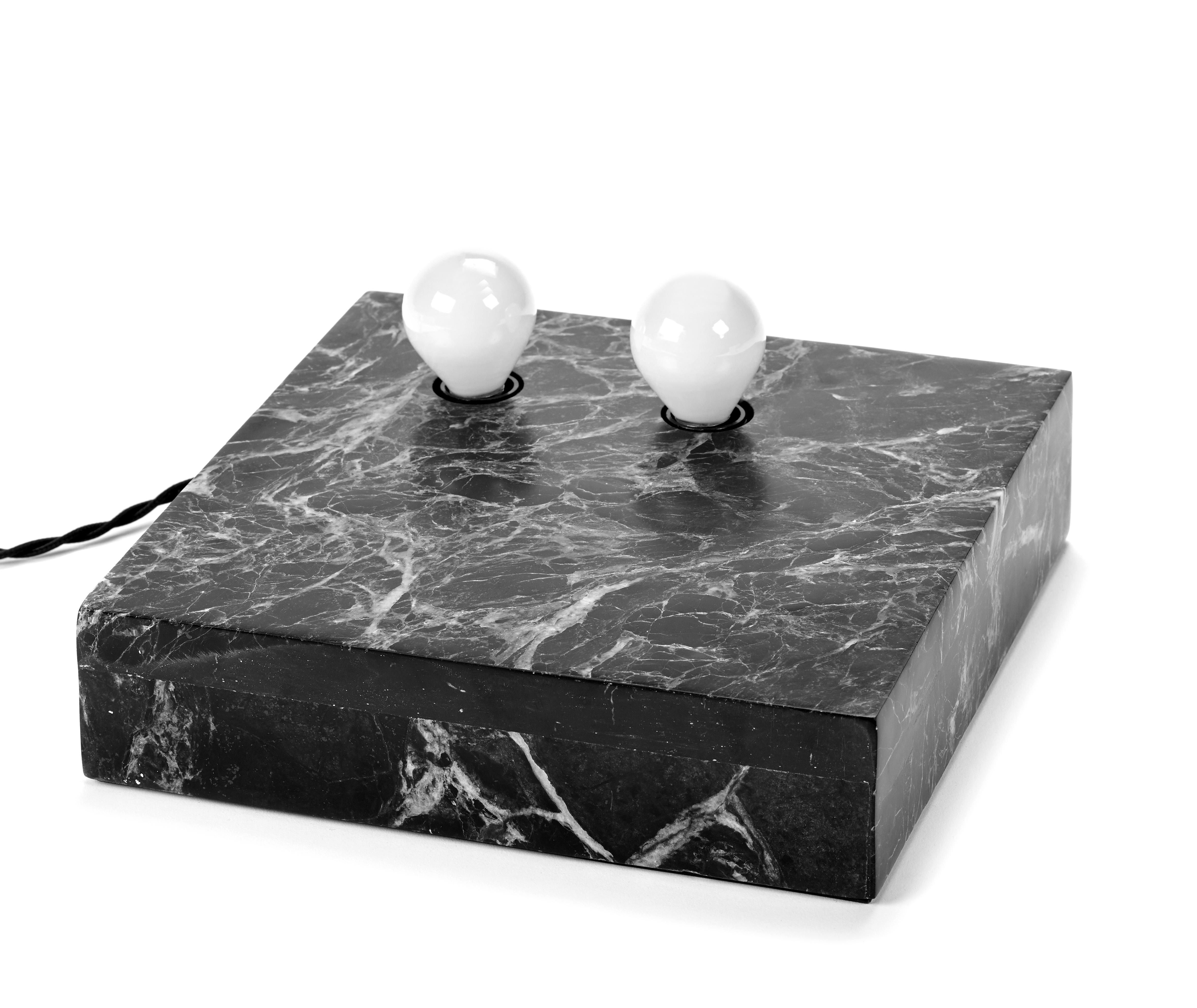 Lighting - Table Lamps - Essentials n°2 Table lamp - / Wall light - Marble - 25 x 25 cm by Serax - Marble / Black - Marble