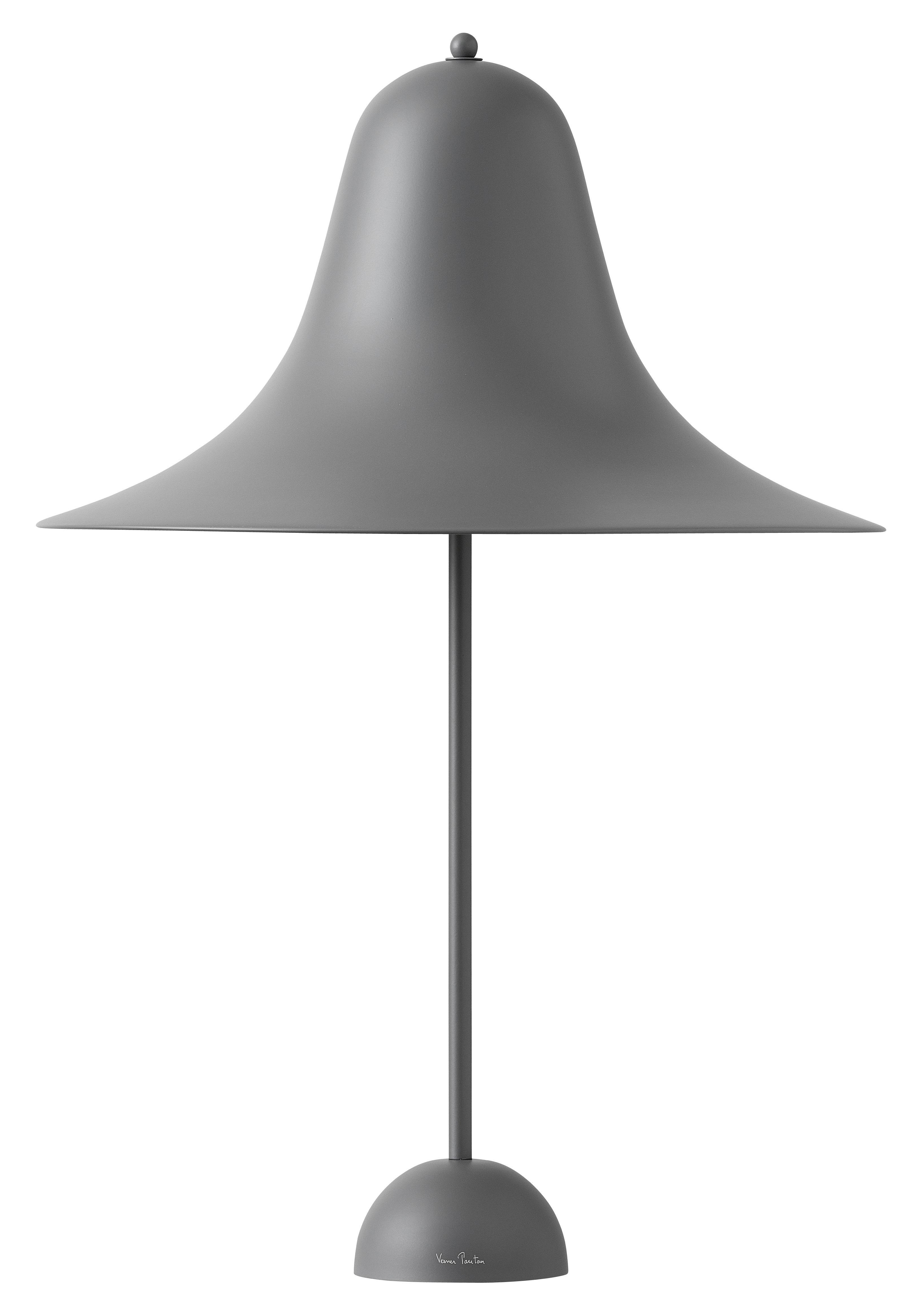 Lighting - Table Lamps - Pantop Large Ø 45 cm Table lamp - / Verner Panton (1980) by Verpan - Grey - Lacquered metal
