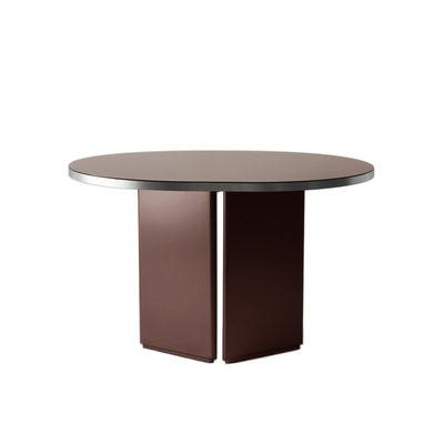 Table ovale Brandy / 120 x 100 cm - Verre - ENOstudio rouge en verre