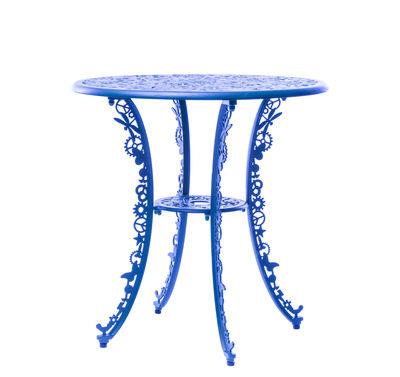 Table ronde Industry Garden Ø 70 cm Seletti bleu ciel en métal