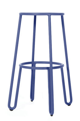 Mobilier - Tabourets de bar - Tabouret de bar Huggy / H 75 cm - Aluminium - Maiori - Bleu aube - Aluminium laqué époxy