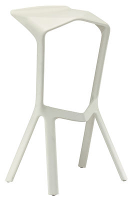 Tabouret de bar Miura H 78 cm Plastique Plank blanc en matière plastique