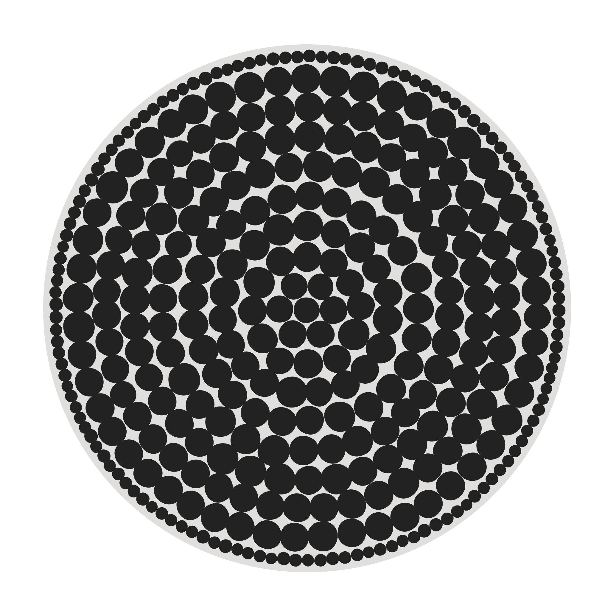 Tapis black bombay p devache noir blanc 145 made - Made in design tapis ...