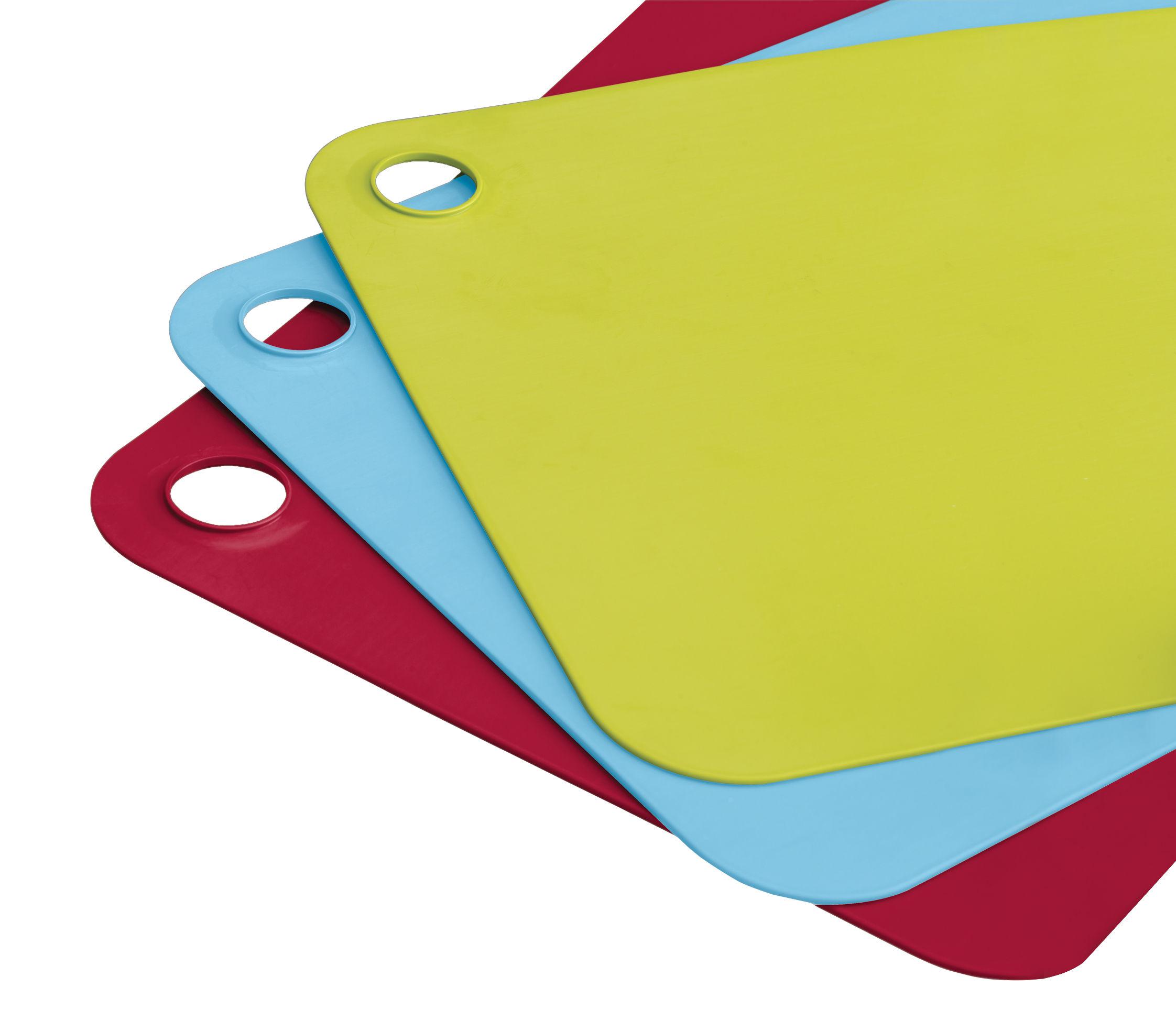 Cuisine - Boîtes, pots et bocaux - Tapis de découpe Pop Plus / Set de 3 - Joseph Joseph - Vert, bleu & rouge - Polyrpopylène