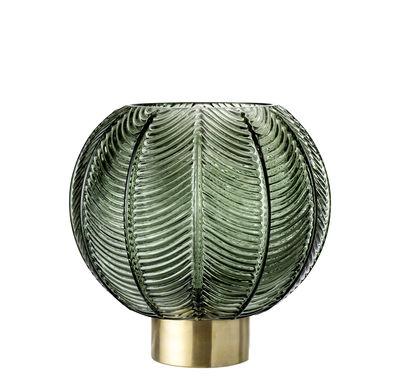 Vase Glas Metall ø 20 Cm X H 21 Cm Grün Goldfarben By