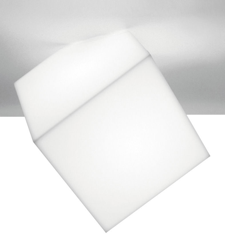 Lighting - Wall Lights - Edge Wall light - Ceiling light by Artemide - White - Side 21.5 cm - Polypropylene