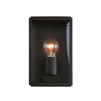 Lighting - Wall Lights - Homefield Wall light - / Glass & metal by Astro Lighting - Black & transparent - Glass, Stainless steel