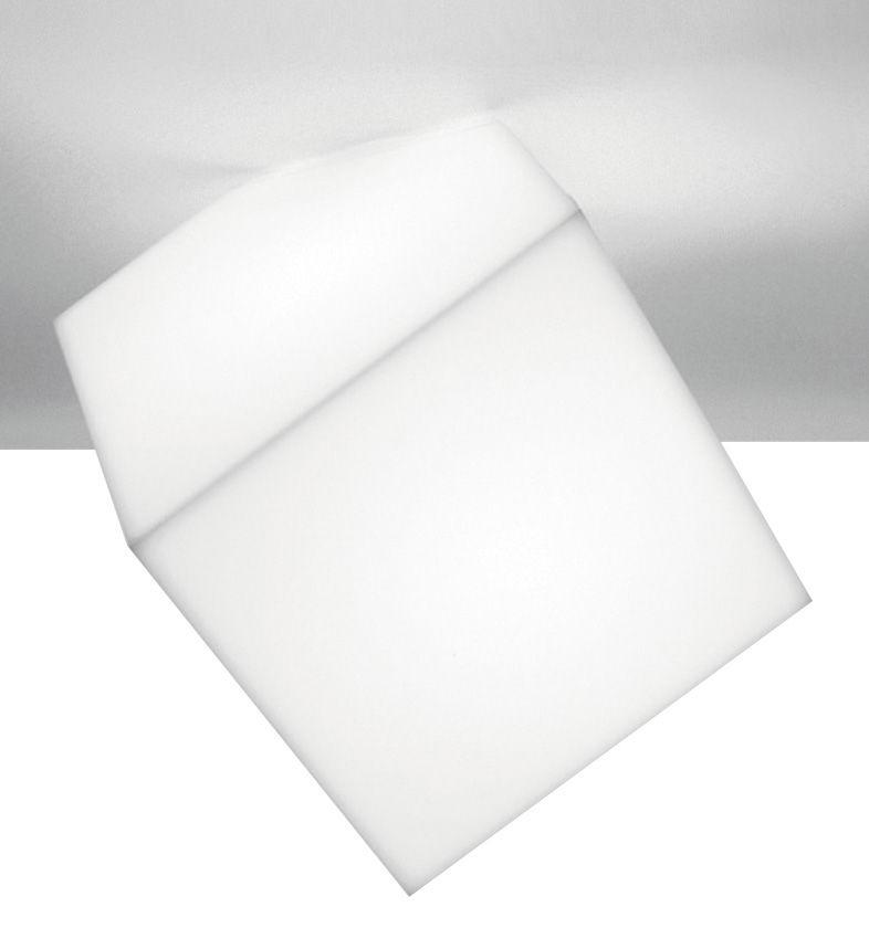 Leuchten - Wandleuchten - Edge Wandleuchte Deckenleuchte - Artemide - Weiß - Seite: 21,5 cm - Polypropylen