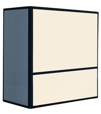 Leuchten - Wandleuchten - Radieuse Wandleuchte / ohne Fassung und Stromanschluss - H 25 cm - Maison Sarah Lavoine - Natur & blau / Einfassungen schwarz - Baumwolle, Metall