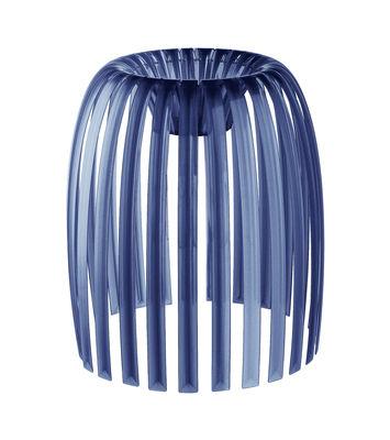 Abat-jour Josephine Medium / Ø 31 x H 34 cm - Koziol bleu marine transparent en matière plastique