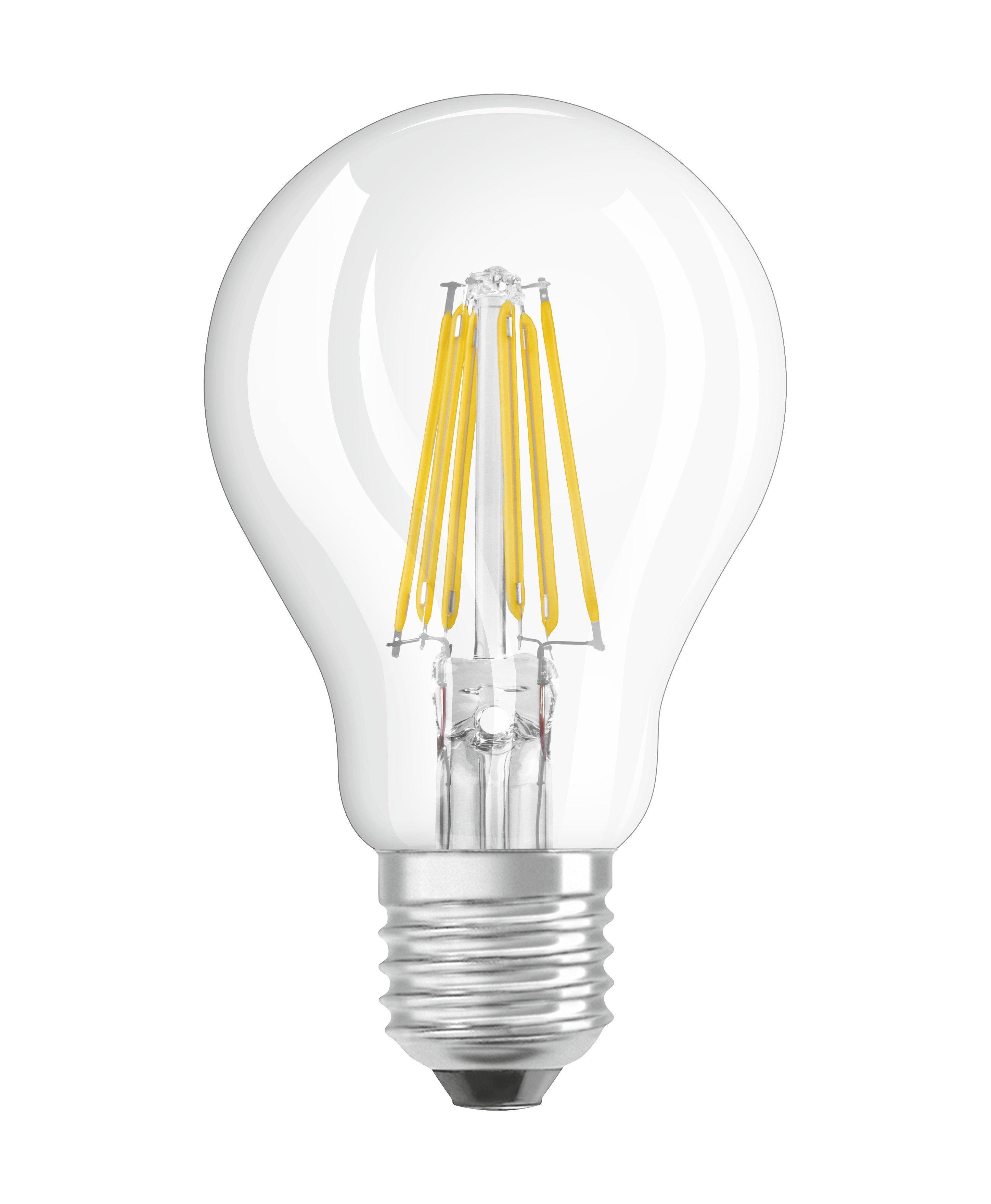 Luminaire - Ampoules et accessoires - Ampoule LED E27 / Standard claire - 8W=75W (2700K, blanc chaud) - Osram - 8W=75W - Verre
