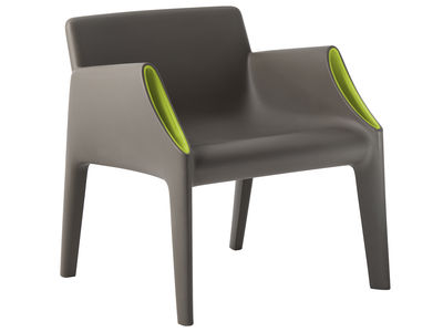 Furniture - Armchairs - Magic Hole Armchair - Indoor / outdoor by Kartell - Grey / green - Polythene