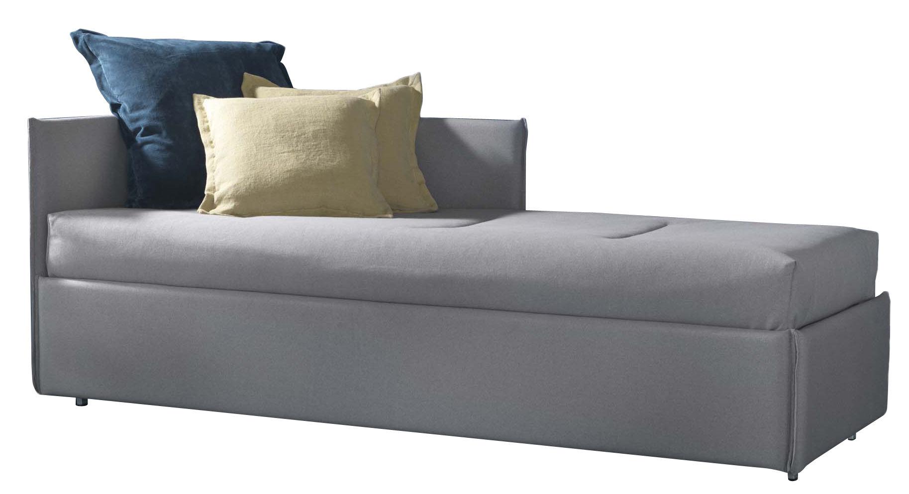 Mobilier - Lits - Banquette Manhattan / Convertible - 80 x 190 cm - Dorelan - Gris - Coton