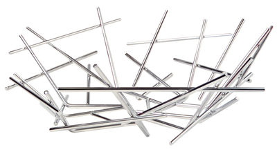 Accessories - Bathroom Accessories - Blow up Basket - Ø 32 x H 10  cm by Alessi - Acier - Stainless steel