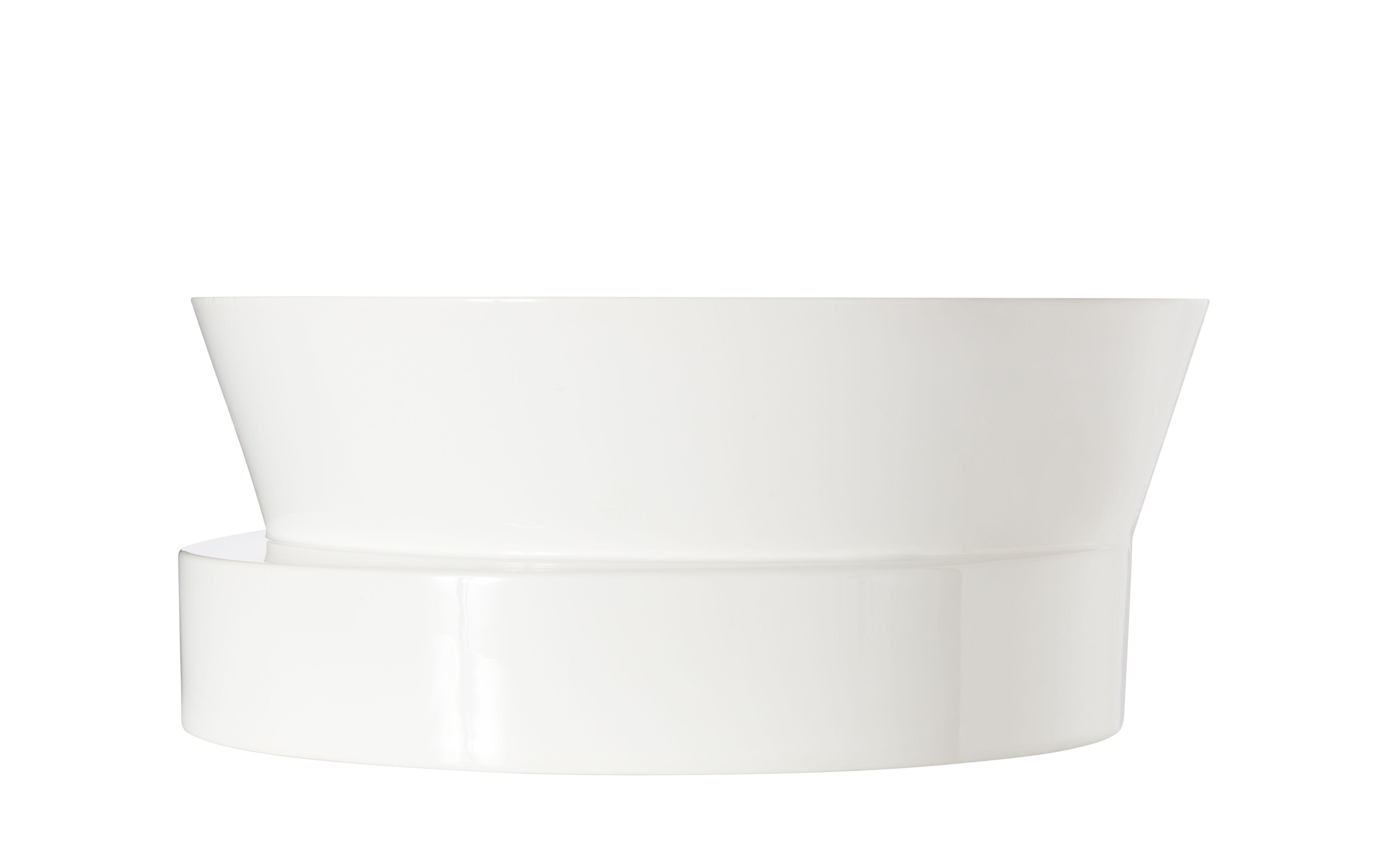 Tableware - Fruit Bowls & Centrepieces - Block Bowl - / Ø 30 x H 12 cm by Tom Dixon - White - Enamelled earthenware