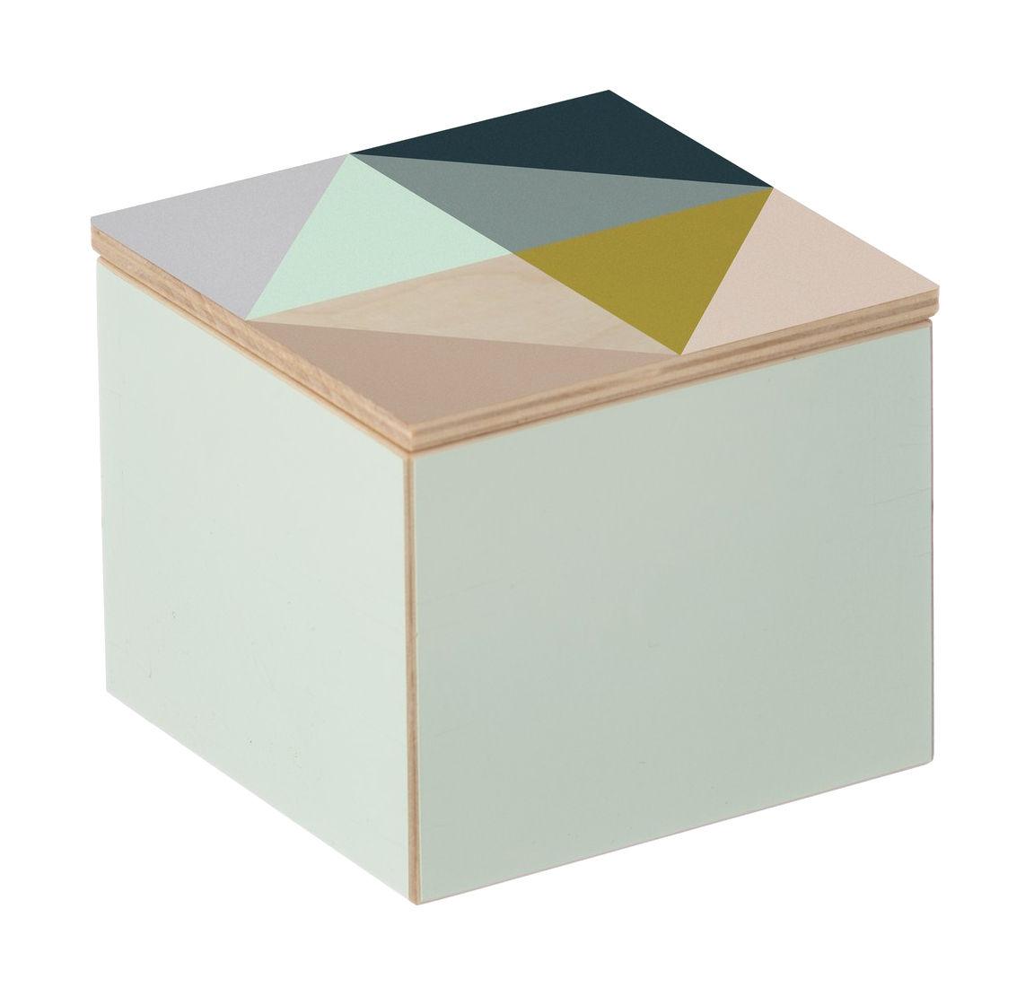 Decoration - Decorative Boxes - Clint Box Box - 10 x 10 cm by Ferm Living - Multicolored - Birch plywood