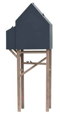 Mobilier - Mobilier Kids - Buffet Palafitt / 2 portes - L 64 cm - Seletti - Gris anthracite / Bois naturel - Bois de hêtre, MDF