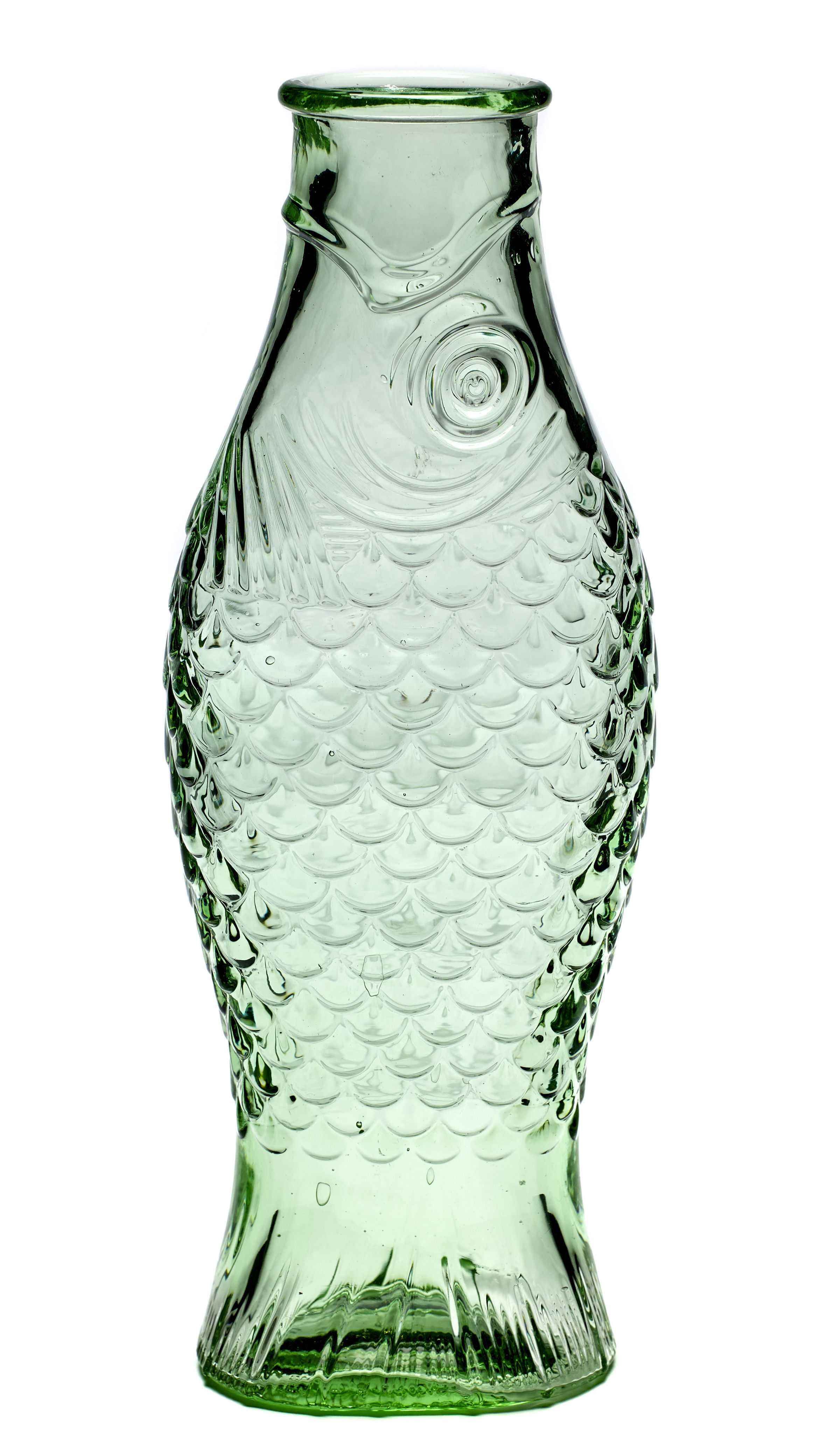 Tableware - Water Carafes & Wine Decanters - Fish & Fish Carafe - / 1L by Serax - Transparent glass - Pressed glass