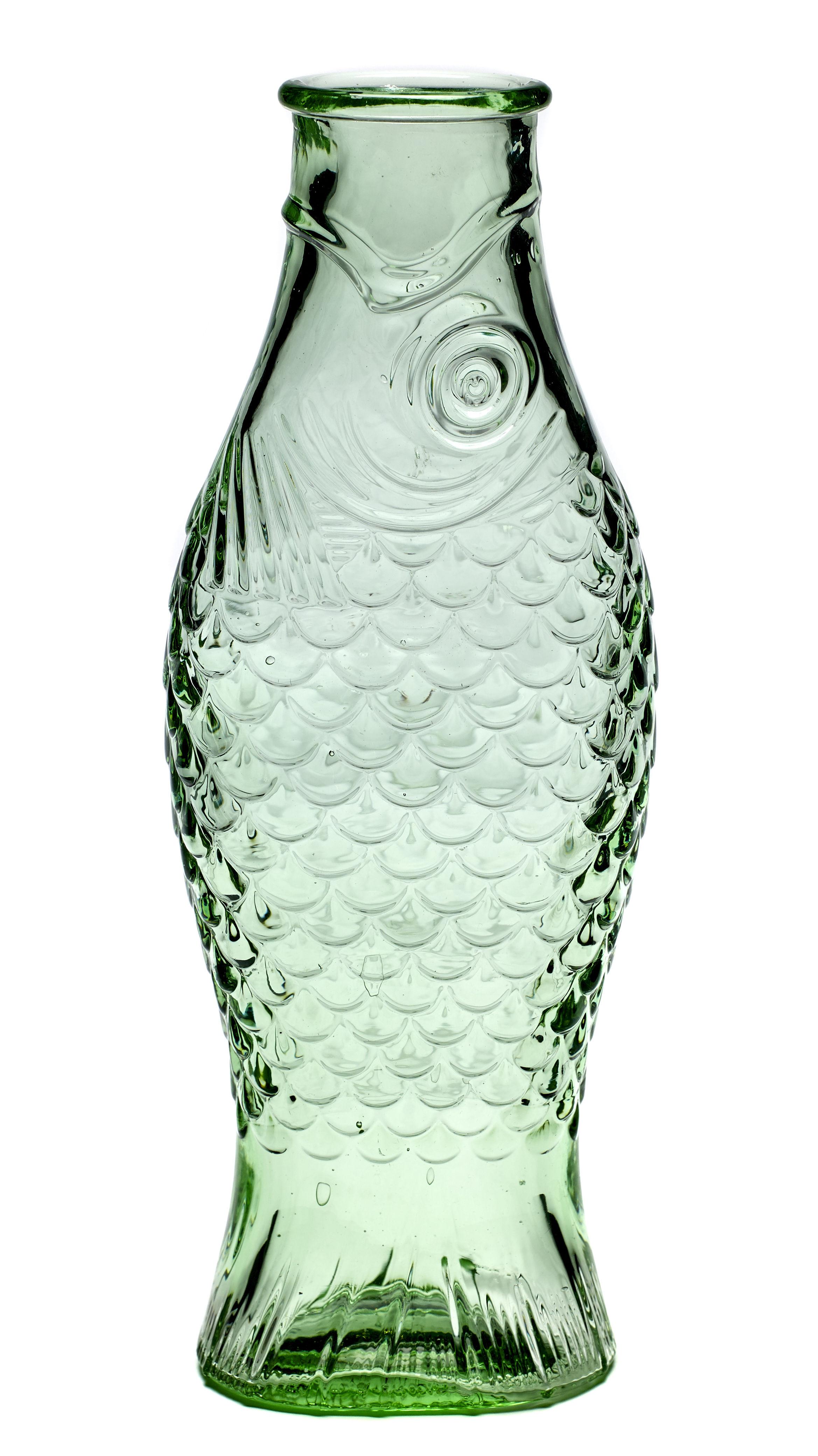 Arts de la table - Carafes et décanteurs - Carafe Fish & Fish / 1L - Serax - Vert transparent - Verre pressé