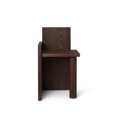 Furniture - Chairs - UTA Piece Chair - / Chair - Oiled solid pine by Ferm Living - Dark wood - Oiled solid pine
