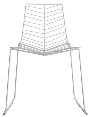 Chaise empilable Leaf / Métal - Arper blanc en métal