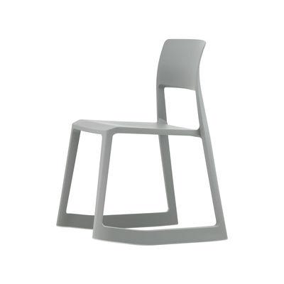 Mobilier - Chaises, fauteuils de salle à manger - Chaise Tip Ton RE / Plastique recyclé - Inclinable & ergonomique - Vitra - Gris - Polypropylène recyclé