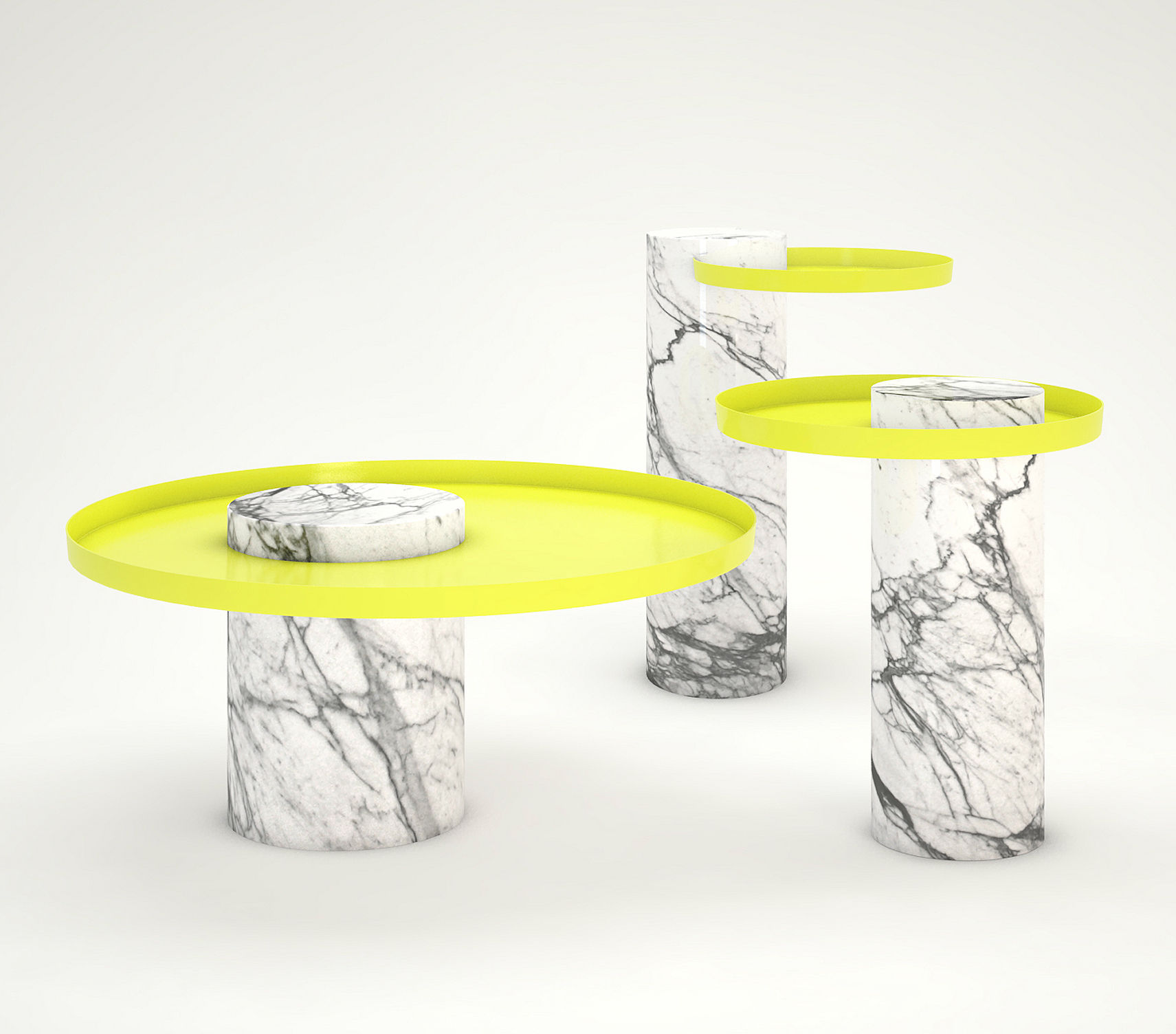 Yellow Marble Coffee Table: Coffee Table Salute By La Chance