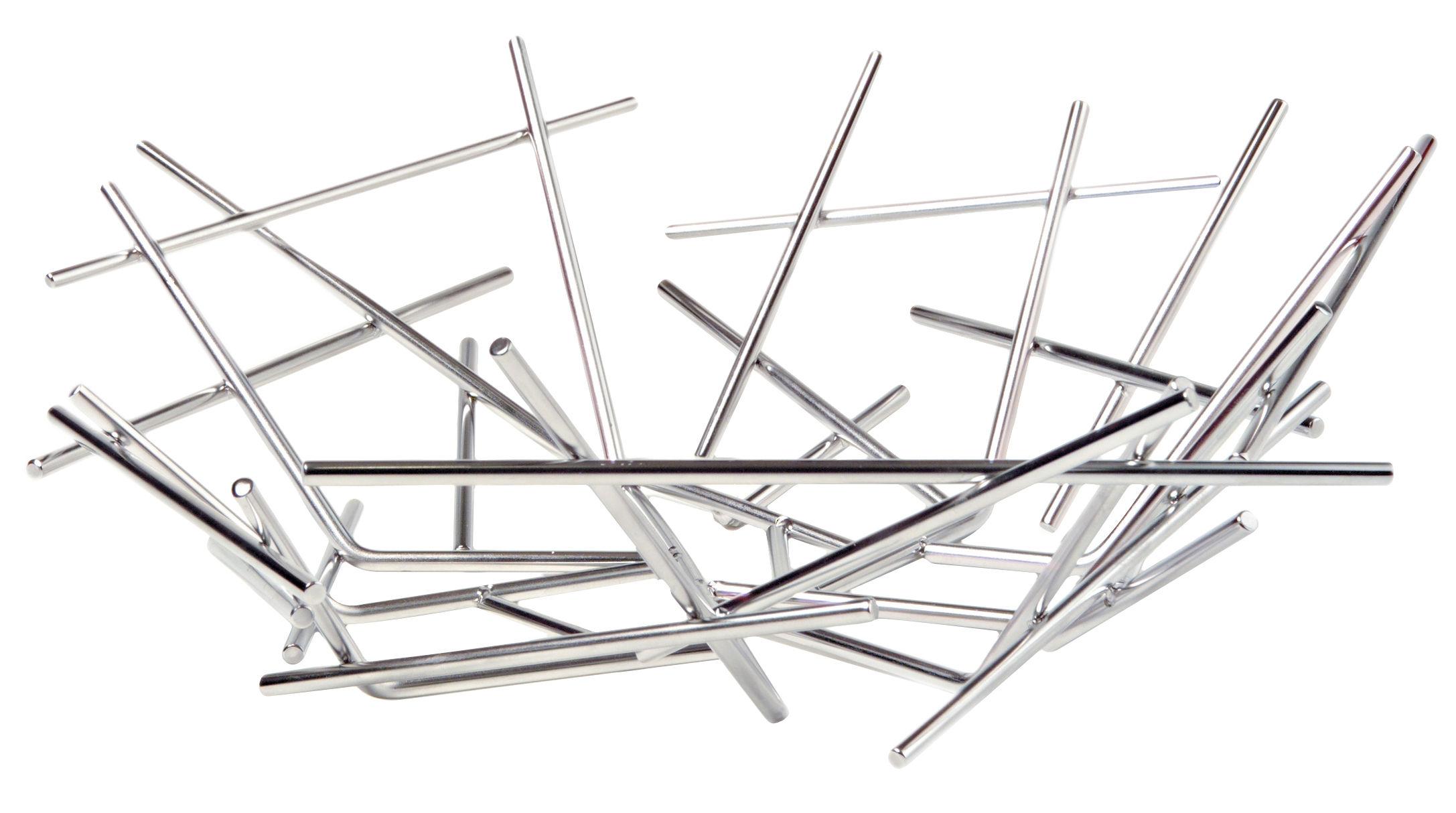 Accessoires - Accessoires salle de bains - Corbeille Blow up / Ø 32 x H 10  cm - Alessi - Acier - Acier inoxydable