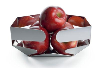 Arts de la table - Corbeilles, centres de table - Corbeille Celata / 26 x 22,5 cm - Alessi - Acier poli miroir - Acier inoxydable 18/10