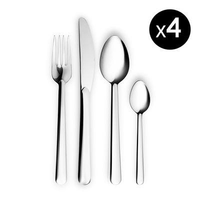 Tableware - Cutlery - Legio Nova Cutlery set - / 16 pieces - 4 people by Eva Trio - Steel - Polished stainless steel