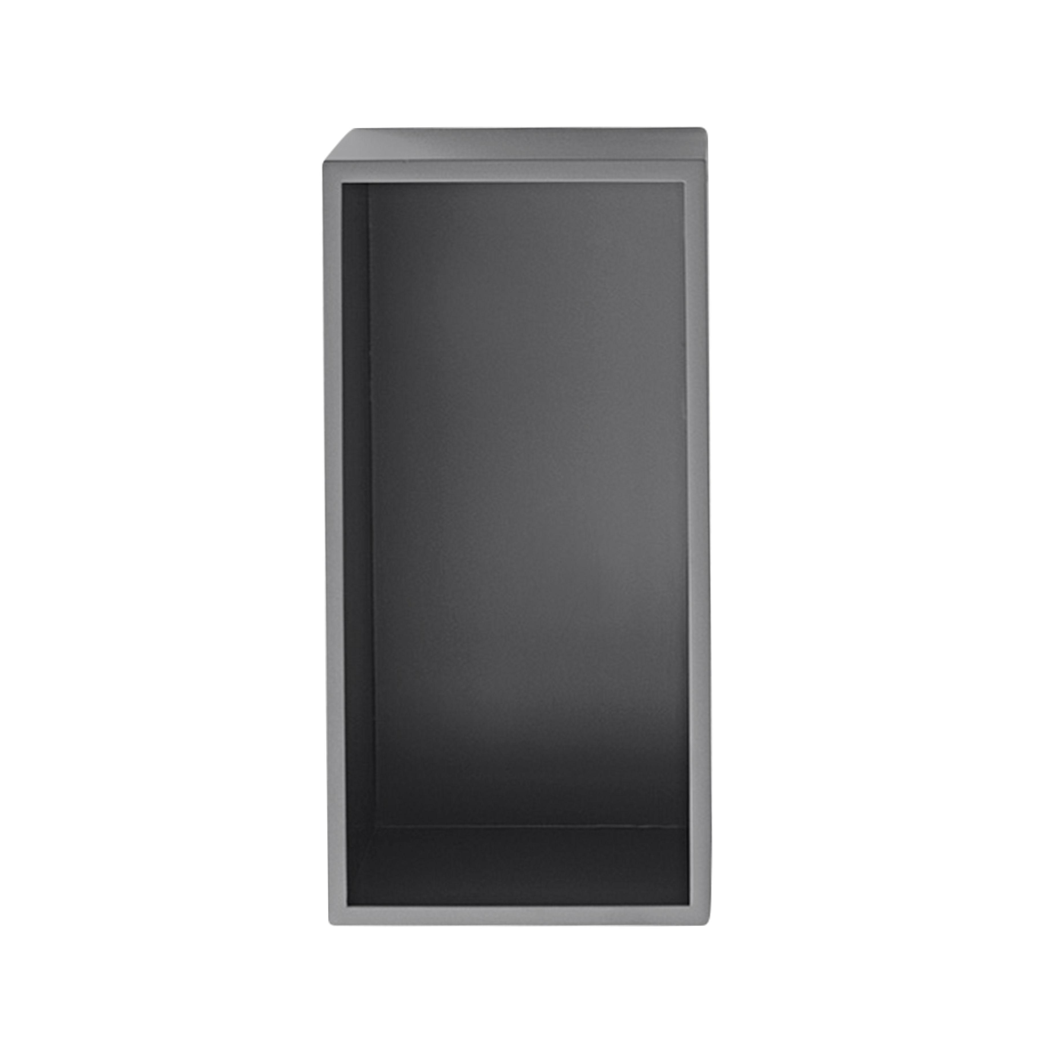 Mobilier - Etagères & bibliothèques - Etagère Mini Stacked 2.0 / Small rectangulaire 33x16 cm / Avec fond - Muuto - Gris - MDF peint