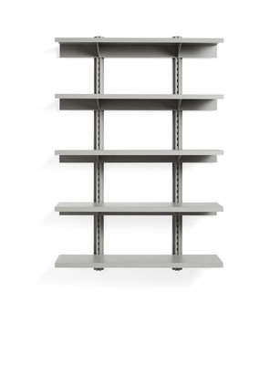 Mobilier - Etagères & bibliothèques - Etagère Standard Issue / L 120 x H 180 cm - Acier - Hay - Gris - Acier laqué époxy