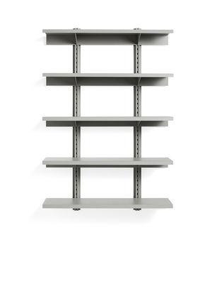 Etagère Standard Issue / L 120 x H 180 cm - Acier - Hay gris en métal