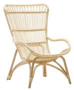 Chaise Monet Sika Design naturel en fibre végétale