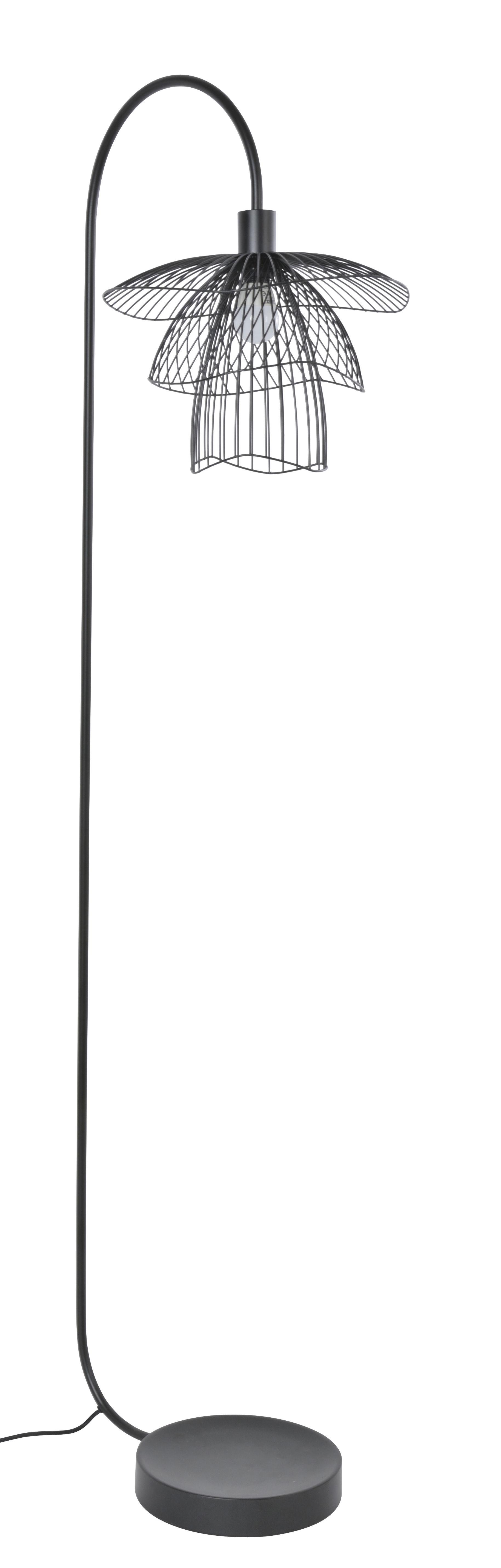 Lighting - Floor lamps - Papillon Floor lamp - / H 150 cm by Forestier - Black - Powder coated steel