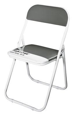 Furniture - Chairs - Pantone Folding chair - Plastic & metal structure by Seletti - Cool grey 10C - Aluminium, PVC